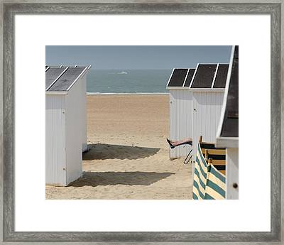 Sunny Feet Framed Print