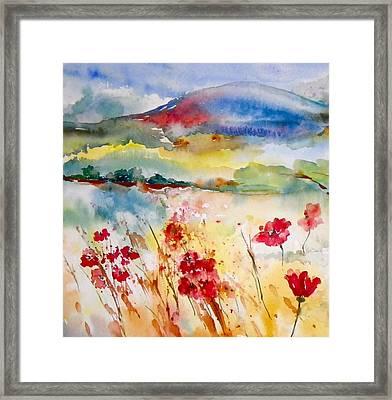Sunny Field Framed Print by Anna Ruzsan