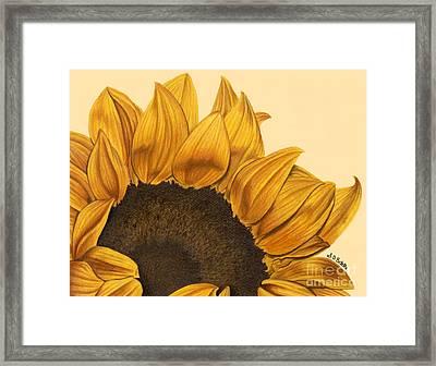 Sunny Flower Framed Print by Sarah Batalka