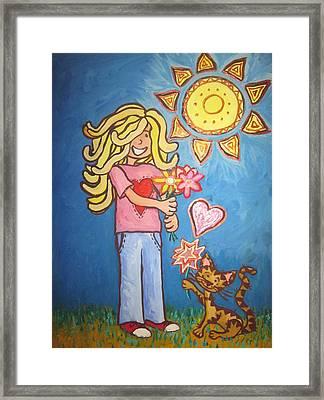 Sunny Girl Framed Print by Cherie Sexsmith