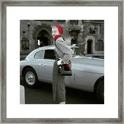 Sunny Harnett By A Car Framed Print by Frances Mclaughlin-Gill