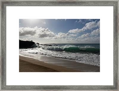 Sunny Hawaiian Beach Fun Framed Print by Georgia Mizuleva