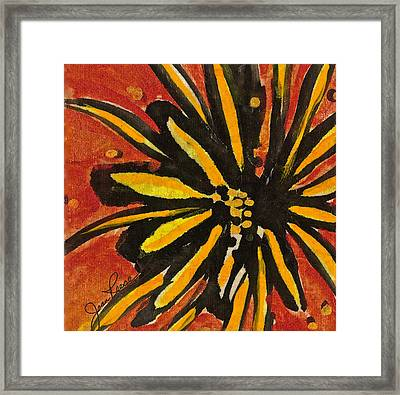 Sunny Hues Watercolor Framed Print by Joan Reese
