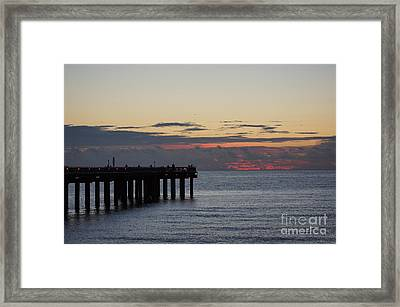 Framed Print featuring the photograph Sunny Isles Fishing Pier Sunrise by Rafael Salazar