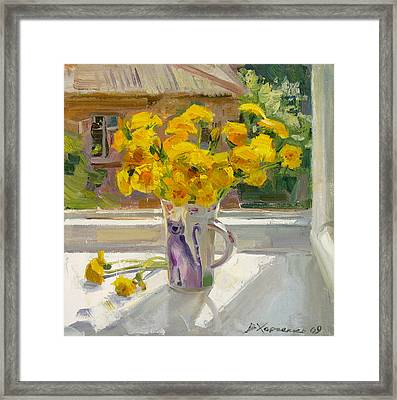 Sunny May Framed Print by Victoria Kharchenko