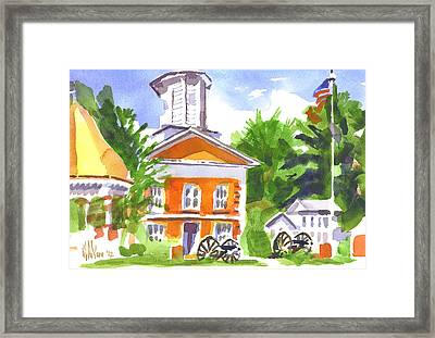 Sunny Morning On The City Square Framed Print by Kip DeVore