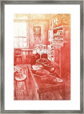 Sunny Old Fashioned Kitchen Framed Print by Kendall Kessler