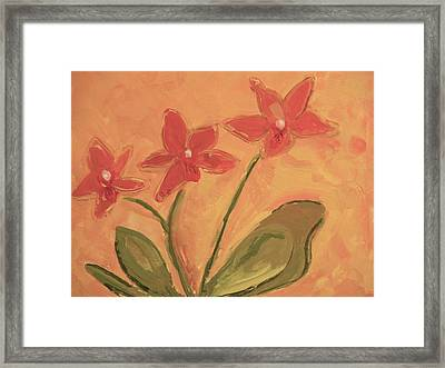 Sunny Orchids Framed Print by Valerie Lynch