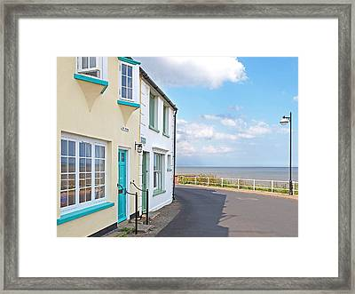 Sunny Outlook - Southwold Seafront Framed Print by Gill Billington