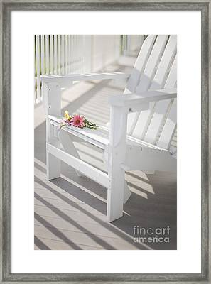 Sunny Porch Framed Print by Diane Diederich