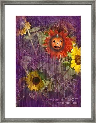 Sunny Pumpkin Framed Print by Audra D Lemke