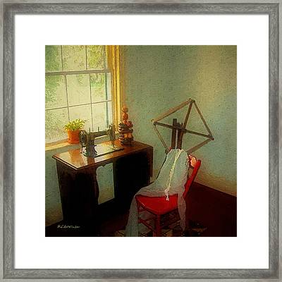 Sunny Sewing Room Framed Print by RC deWinter