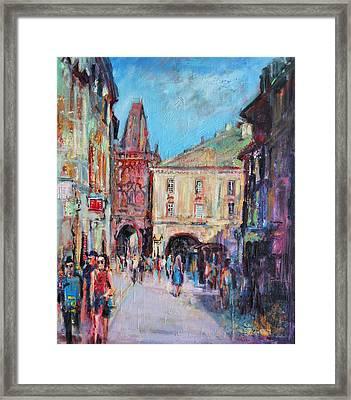 Sunny Side  Prague Framed Print by Sylvia Paul