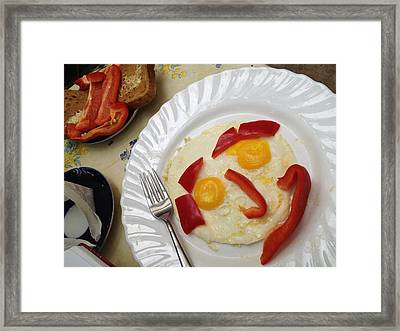 Sunny Side Up Framed Print by Christine Rivers