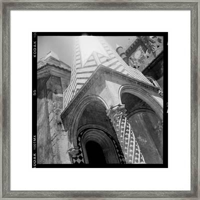Sunny Sintra Tiles Framed Print by Becky Kozlen