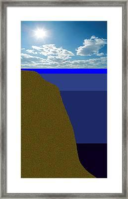 Sunny Sky Over Dead Oceans 2 Framed Print by Bruce Iorio