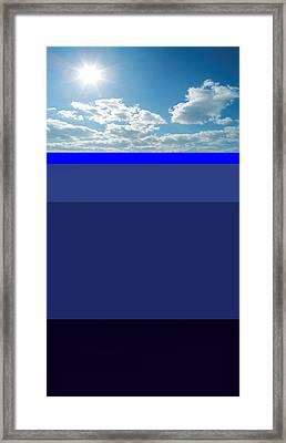Sunny Sky Over Dead Oceans Framed Print by Bruce Iorio