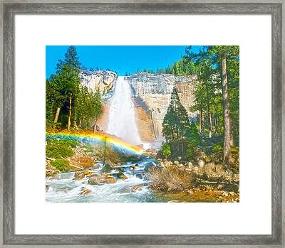 Nevada Fall On A May Afternoon Framed Print