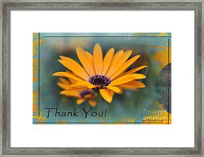 Framed Print featuring the photograph Sunny Thank You  by Jean OKeeffe Macro Abundance Art