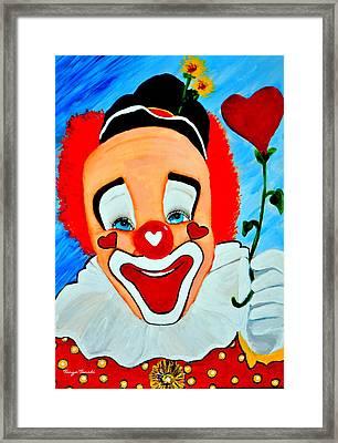 Sunny The Clown......... Framed Print