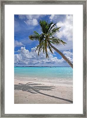 Sunny Tropic Day. Maldives Framed Print by Jenny Rainbow