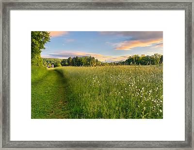 Sunny Valley Sunrise Framed Print