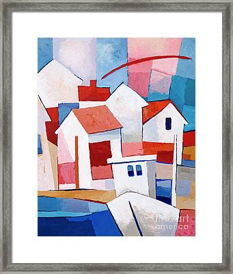 Sunny Village Framed Print by Lutz Baar