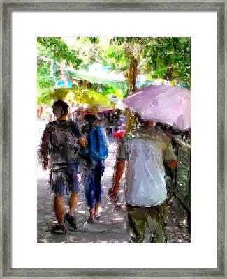 Sunny Walk Lamma Island Framed Print by Yury Malkov
