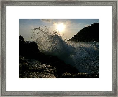 Sunny Wave Framed Print by Alessio Casula