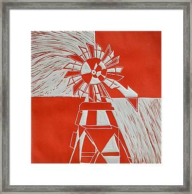 Sunny Windmill Framed Print