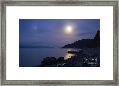 Sunnyside Moon Framed Print