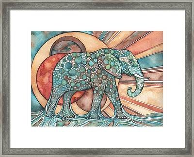 Sunphant Sun Elephant Framed Print by Tamara Phillips