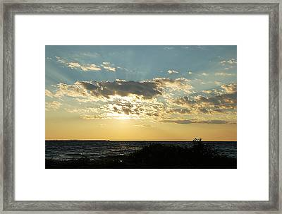 Sunrays Framed Print
