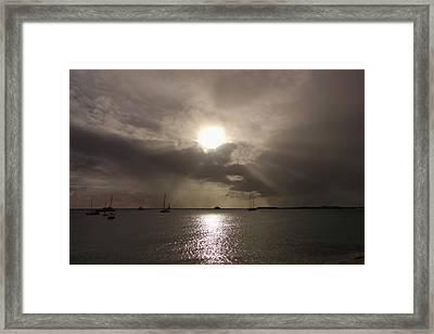 Sunrays Over Simpson Bay Framed Print
