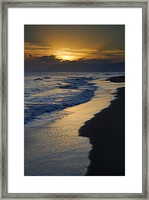 Sunrays Over The Sea Framed Print by Guido Montanes Castillo