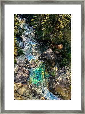 Sunrift Gorge Framed Print by Robert Bales