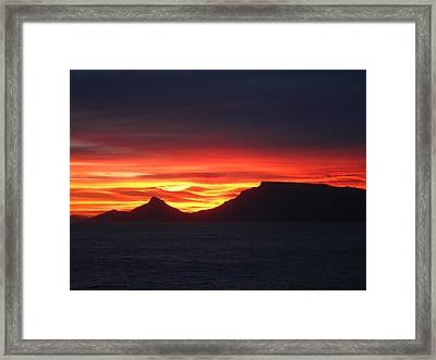 Sunrise Over Table Mountain Framed Print