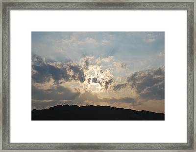 Framed Print featuring the photograph Sunrise 1 by George Katechis