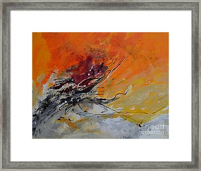 Sunrise - Abstract 1 Framed Print by Ismeta Gruenwald