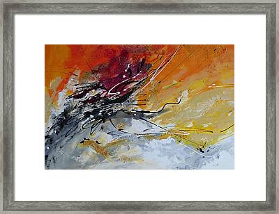 Sunrise - Abstract Art Framed Print