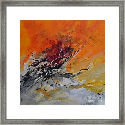 Sunrise - Abstract Framed Print by Ismeta Gruenwald