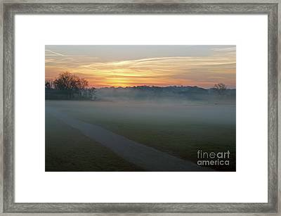 Sunrise Across The Fog Path Framed Print
