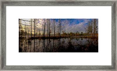 Sunrise Along The Mullica River In Pinelands Framed Print by Louis Dallara