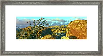 Sunrise Alpenglow Near Bow Willow Framed Print by Panoramic Images