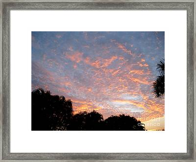 Sunrise. Amazing Sky Framed Print