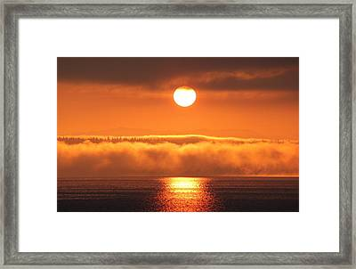 Framed Print featuring the photograph Sunrise And Fog by E Faithe Lester
