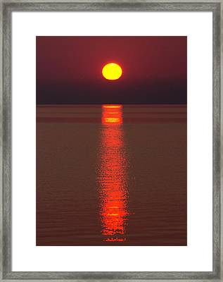 Sunrise And Reflection Framed Print by Cale Best