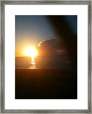 Sunrise And Sand Framed Print