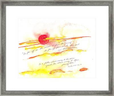 Sunrise And Sunset Framed Print by B L Qualls