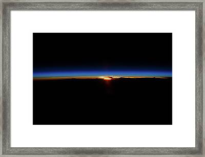 Sunrise And Sunset Over North Pacific Framed Print